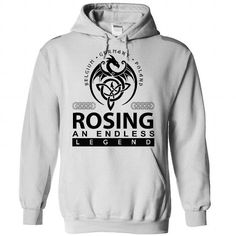 ROSING an endless legend - #gift for girls #mothers day gift. SECURE CHECKOUT => https://www.sunfrog.com/Names/rosing-White-Hoodie.html?68278