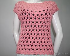 This is a free crochet pattern for Lea blouse. It has photo tutorial in each step to guide you in your crochet journey.