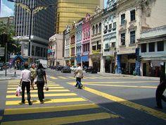 City streets in Kuala Lumpur, Malaysia