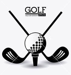 Golf design vector on VectorStock&reg Golf Tattoo, Golf Mk3, Best Golf Clubs, Golf Theme, Golf Player, Golf Quotes, Play Golf, Golf Tips, Golf Ball