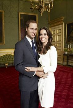 Prince William and Kate Middleton's engagement photograph.