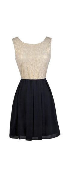 Lily Boutique Inner Glow Lace and Chiffon Dress in Navy, $38 Navy and Beige Lace Dress, Cute Navy Party Dress, Cute Holiday Party Dress, New Years Eve Dress www.lilyboutique.com