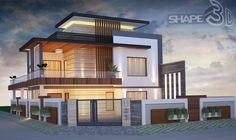Bungalow House Design, House Front Design, Modern House Design, Dream House Plans, Modern House Plans, Small House Plans, Facade Design, Exterior Design, Architecture Design