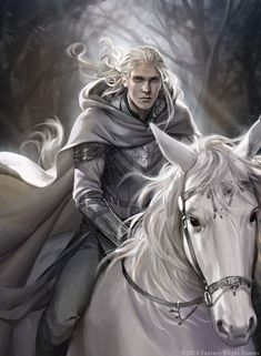 Lord of the Rings LCG: Glorfindel alt art, by Audrey Hotte Fantasy Male, High Fantasy, Fantasy Warrior, Medieval Fantasy, Elf Warrior, Tolkien, Character Portraits, Character Art, Character Ideas