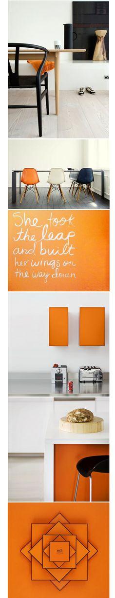 Scandinavian Interior Design Style / Orange mood board