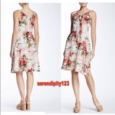 "Eva Franco TATE DRESS in Rosette - Size 2 - NWT Eva Franco TATE DRESS –  DETAILS:  •    Retail $445  •    Size: 2  •    Color: Rosette  •    Style #CF6081  •    Scoop neck with ribbon embellishment  •    Sleeveless  •    Concealed side zip closure  •    Allover floral print  •    Lined  •    Measurements: 40""L/33"" Bust/26"" Waist/34.5"" Hips  •    Made in USA  •    Self: 100% polyester; Lining: 100% polyester  •    Dry clean  •    BRAND NEW – SOLD OUT Eva Franco Dresses"