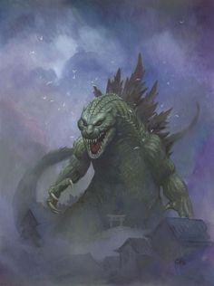 Godzilla von Frank Cho - http://www.dravenstales.ch/godzilla-von-frank-cho/