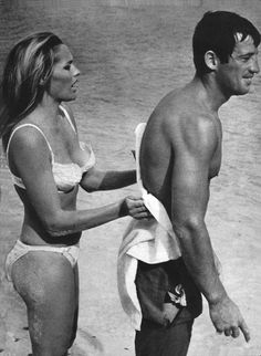 ursula andress & jean-paul belmondo