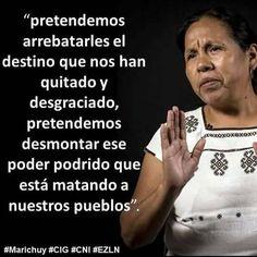 Red de Individu@s y colectivos en apoyo al CIG del CNI y a su Vocera en Azcapotzalco La Red, Feminism, People, Frases, People Illustration, Folk