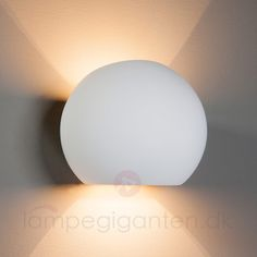 Kugleformet halogen lampe i gips Elina 9613002