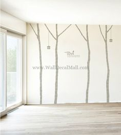 Vintage Birch Tree 4 Wall Decals– WallDecalMall.com