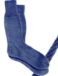 Plain Sock knit pattern originally published in Knit for Defense, Spool Cotton Book 172. #sockpatterns #knitting