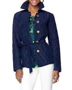 Lilly Pulitzer Destination Quilted Jacket #Resort365 I love quilted jackets!!