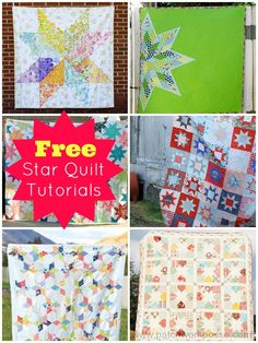FREE star quilt tutorials | patchwork posse | easy sewing projects and free quilt tutorials