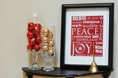 Using wordle to make these and insert in frames I already have hanging....cheap and adorable!