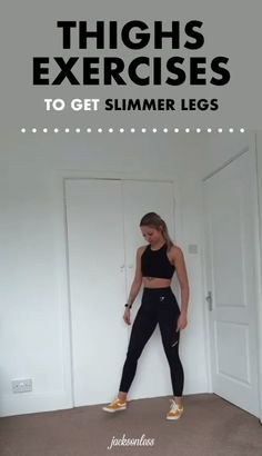 Want slimmer and toned legs? Try these four thighs exercises. Do each move for a minute, then take a minute of rest and repeat up to 5 times. The more, the better. Also, a muscle stimulator can activate your thighs while you watch your favourite TV s Fitness Workouts, At Home Workouts, Inner Leg Workouts, Inner Thight Workout, Fitness Legs, Free Fitness, Fitness Motivation, Sixpack Abs Workout, Butt Workout
