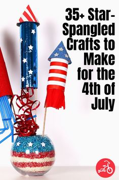 37 Festive Crafts to Make This 4th of July Diy Kid Crafts For Boys, Crafts To Make, Kids Diy, Memorial Day Activities, Craft Activities, Activity Ideas, 4th July Food, Fourth Of July, Festive Crafts
