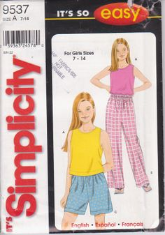 Pattern for easy elastic waist pajama pants by beththebooklady, $3.99