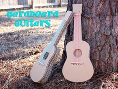 Make a cardboard guitar that you can play. Tutorial. I thought this was cool...