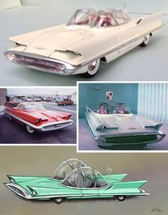 1955 Lincoln Futura, recycled 11 years later by kustom kar king George Barris to be the turbine powered Batmobile