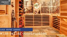 Signature Cellars are your experts in wine storage solutions specialising in premium wine cellars. Learn more about adding a wine cellar right in your home. Wine Storage, Storage Room, Wine Cellar Design, Small Doors, Storage Design, Glass Door, Contemporary Design, Door Handles, Wine Cellars