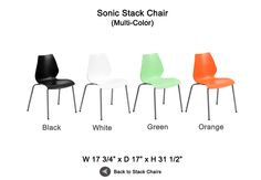 Sonic Stack Chairs for Tradeshows, Events & More!