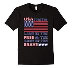 USA FOREVER - Classic Fit T Tee Shirt. Land of The Free - Home of The Brave. Perfect Fourth of July Shirt. Available in 5 colors.  #USA, #FourthofJulyShirt, #4thofJuly, #American, #PatrioticShirts , #Patriotic, #America, Fourth of July Shirts, 4th of July shirts, America, Patriotic Shirts, Patriot