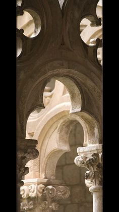 capitals and tracery from the 15th-century Dominican cloister in Dubrovnik