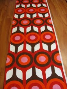 vintage fabric, 1970s - Solar: Jupiter  again by modflower ,would be great to make a wall hanging