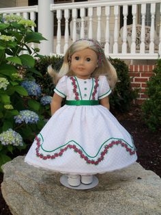 Mid 1800's Gown/ Clothes for American Girl Marie Grace, Cecile or Caroline