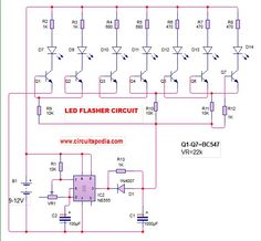 icu ~ Pin on LED Flasher circuit ~ 26 Jul LED Flasher Running Effect without microcontroller Hobby Electronics, Electronics Basics, Electronics Projects, First Transistor, Electrical Circuit Diagram, Simple Circuit, New Technology Gadgets, Education Sites, Led Projects