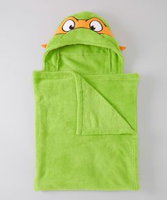 Take a look at this Green TMNT Michelangelo Hooded Towel by Teenage Mutant Ninja Turtles on #zulily today!