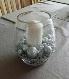 Christmas candle. Great for a table centrepiece.
