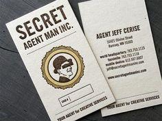 23. letterpress business card