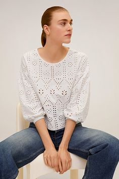The Summer Trend to Buy Based on Your Zodiac Sign | The Everygirl Blouse Styles, Blouse Designs, Beautiful Blouses, Western Outfits, Cotton Blouses, Simple Outfits, Blouses For Women, Ideias Fashion, Ready To Wear