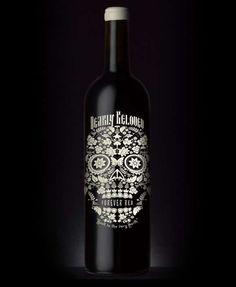 silk screened wine label. design firm Stranger & Stranger