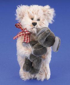 Another great find on #zulily! Scruffy Light Gold Mini Mohair Plush Bear #zulilyfinds