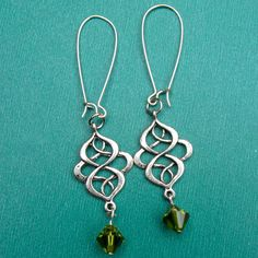 CELTIC SWIRL earrings on French wires. $8.00.  http://www.etsy.com/listing/113431486/celtic-swirl#