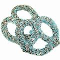 Chocolate Covered Pretzels with Blue Nonpareils - 10CT Box
