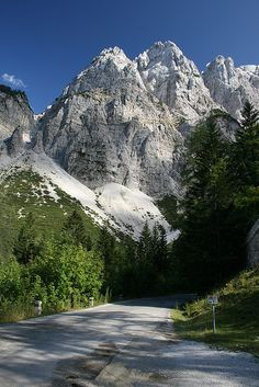 On the way to Vrsic pass in Julian Alps, Slovenia