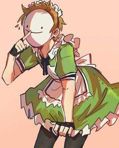 Maid Outfit, Maid Dress, Arte Do Kawaii, Minecraft Wallpaper, Dream Anime, Dream Friends, Minecraft Fan Art, Dibujos Cute, My Dream Team
