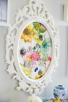 With a display as pretty as this one (can you believe the frame is from IKEA?), you'll always remember to hang your favorite hoops and studs side-by-side. See more at Place of My Taste »