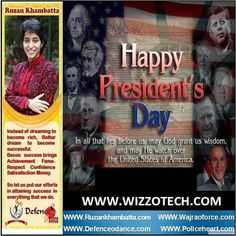 Presidents' Day (USA)  Washington's Birthday also known as Presidents' Day is a federal holiday held on the third Monday of February. The day honors presidents of the United States including George Washington the USA's first president.  #youthicon #motivationalspeaker #inspirationalspeaker #mentor #personalitydevelopment #womenempowerment #womenentrepreneur #entrepreneur #ruzankhambatta #womenleaders