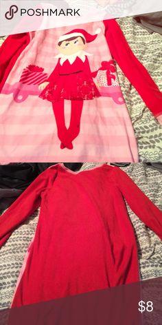 """Girls """"Elf On The Shelf"""" Pajama Dress Girls """"Elf On The Shelf Pajama Dress"""" Size 8 Intimates & Sleepwear Pajamas"""