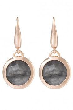 Bronzallure Briolette Stone oorbellen voor dames WSBZ00308GR | JewelandWatch.com