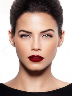 """Fall is here and a deep red lipstick is a MUST HAVE!! Create this look with the liquid lipstick """"Come to Bed Red"""" by butter London!"""