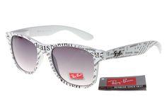 Rare Print Ray Ban RB81040 White Pattern Frame Grey Lenses Sales2311