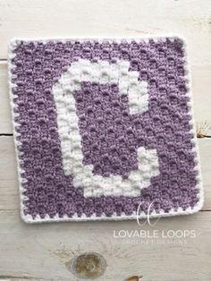 Crochet Alphabet Letters, Crochet Letters Pattern, Crochet C2c Pattern, Crochet Quilt, Tapestry Crochet, Crochet Blanket Patterns, Crochet Baby, Free Crochet, Crochet Squares