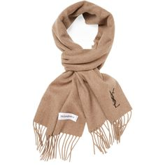 Yves Saint Laurent Men's Solid Wool Scarf - Camel ($79) ❤ liked on Polyvore featuring men's fashion, men's accessories, men's scarves, camel, mens scarves, mens woolen scarves and mens wool scarves