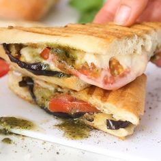 Eggplant Panini with Pesto